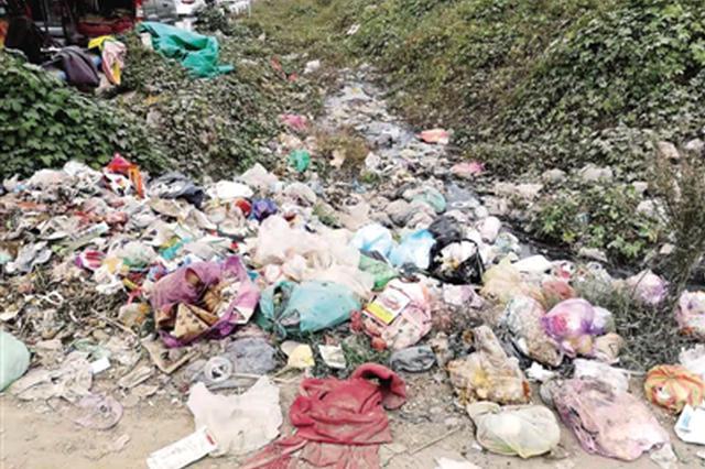 生活垃圾遍地、污水横流 郑州四环外个别路段脏乱差