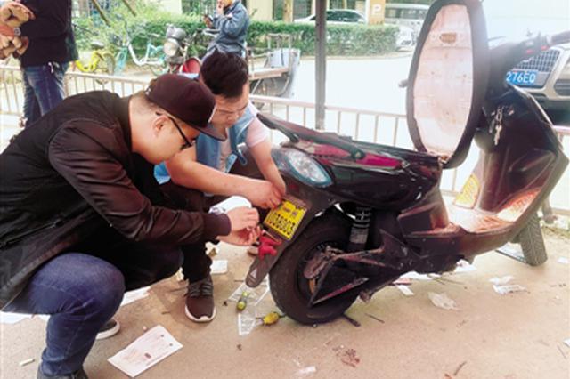 郑州12000多辆电动车已安装防盗车牌 年底前免费安装