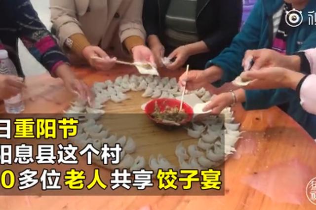欢度重阳节 信阳息县这个村500多位老人共享饺子宴