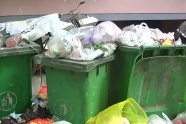 郑州一小区垃圾堆成山一个月没人管 物业这样解释