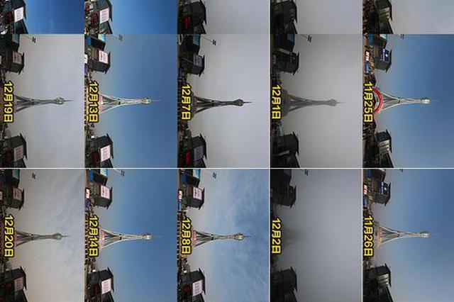 """组图:30天150张照片 实地记录郑州天空""""表情"""""""