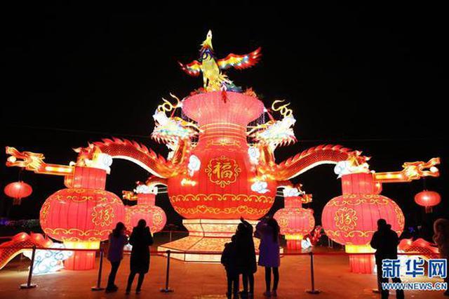 河南温县:花灯璀璨耀新春