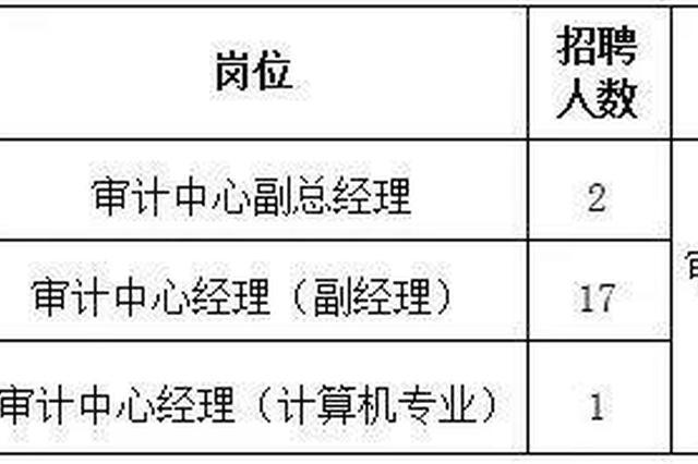 河南最大国企再发招贤令!招聘20名内部审计人员