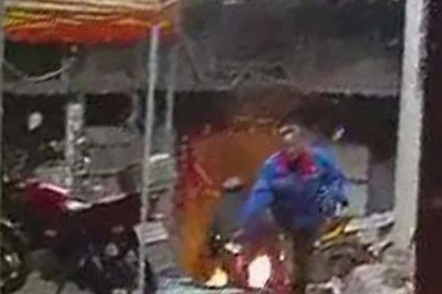 南阳:液化气罐着火 警民携手除险情