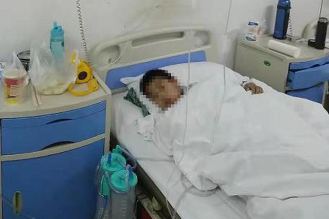 河南8岁男童被狗咬伤 刚能下地走路伤口又渗血