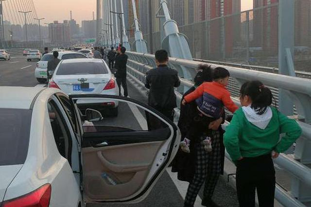 郑州市民农业路高架桥上停车赏景 交警:违停罚200元