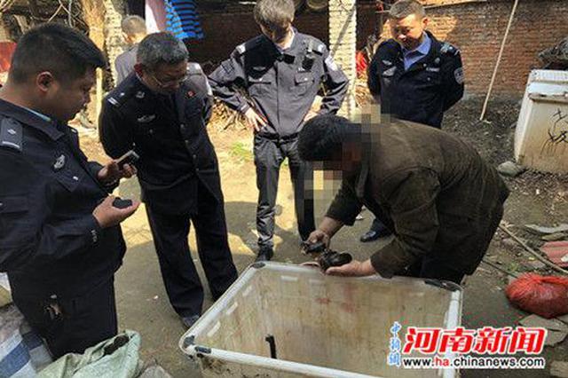 信阳新县警方处理两起非法买卖野生动物案