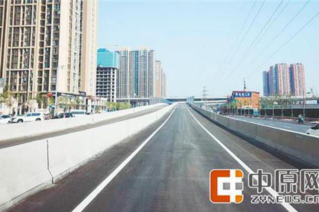 郑州农业路高架嵩山路上桥口开通 下桥匝道月底通车