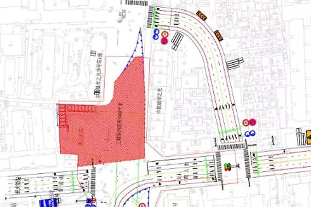 郑州:地铁3号线施工需要 东西大街路口通行规则改变