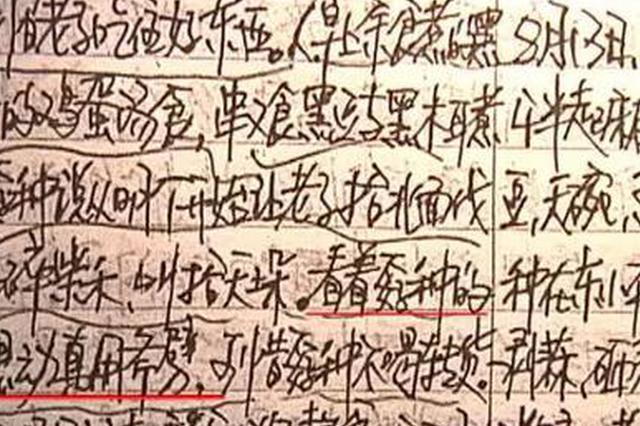 """兰考流浪汉杀害收养人写下""""死亡日记"""":他让我给他下跪"""