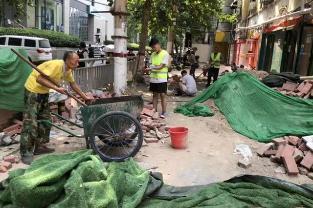 郑州市金水区上周拆除违建173处 将突出重要商圈管理