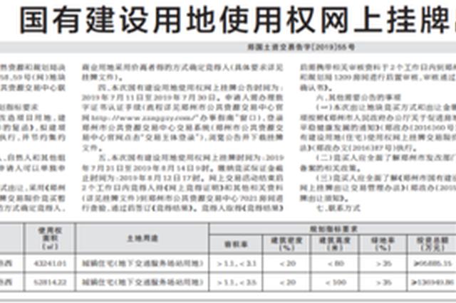 起拍价10.68亿元!郑州约144亩住宅用地挂牌出让