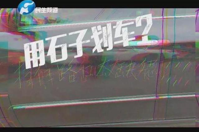 """停车挡道遭划字""""挡路缺德"""" 郑州市民:同一人划的"""