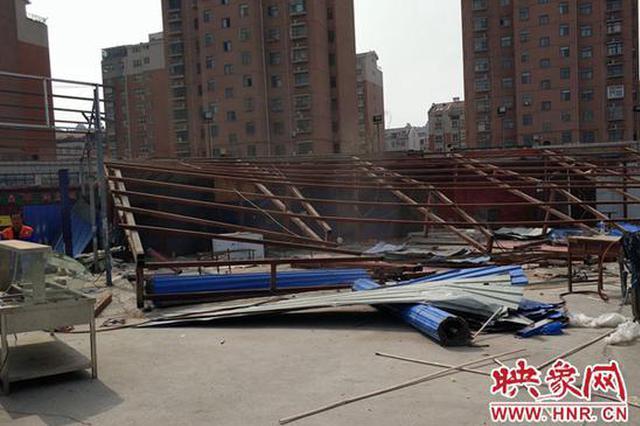 郑州二七区拆除金水河畔违建 增加3000多平米绿地