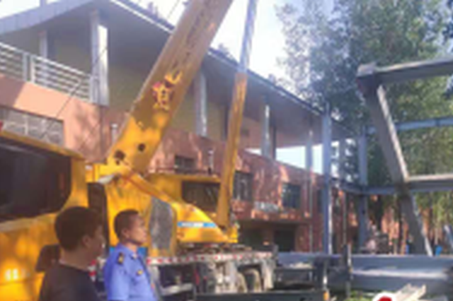 郑州环境整治再升级 1200平方钢架结构违建房被拆除
