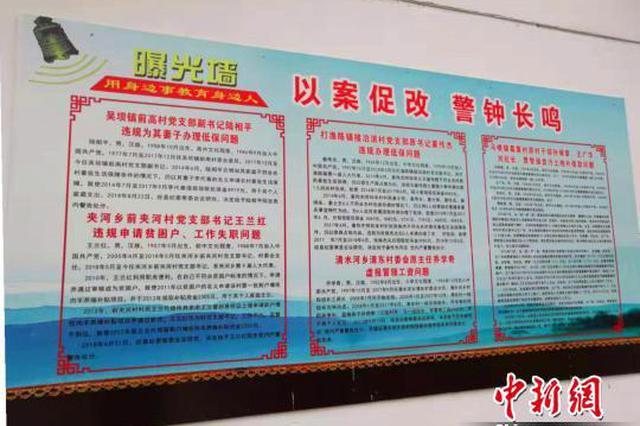 河南濮阳扶贫领域反腐发力 2089个村设置曝光墙