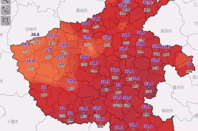 未來幾天 河南西部、西北部地區分散性降水頻繁