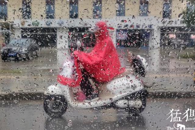 郑州市区下了一天还没够 10日仍然雨雨雨