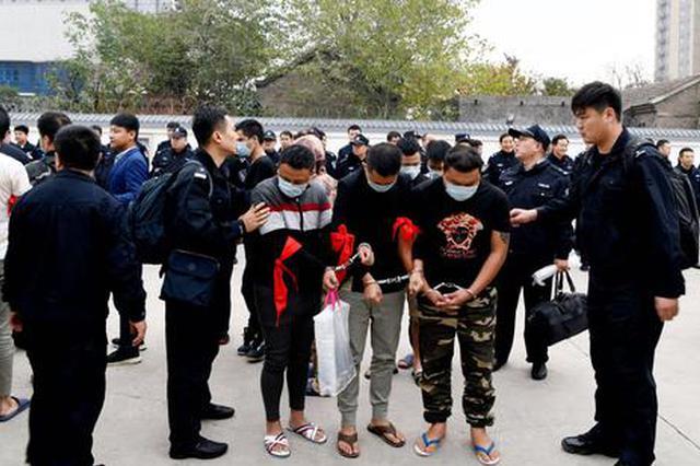 濮阳警方在中缅边境抓获82名电信诈骗嫌疑人