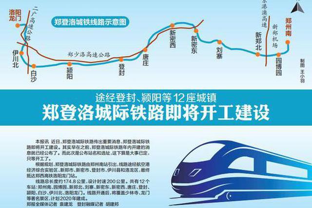 郑登洛城际铁路即将开工建设 途经登封、颍阳等12座城镇