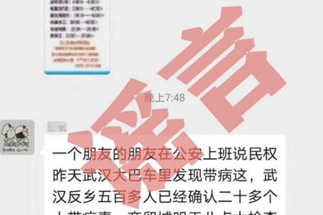 传播虚假疫情谣言 民权一网民被拘留5天