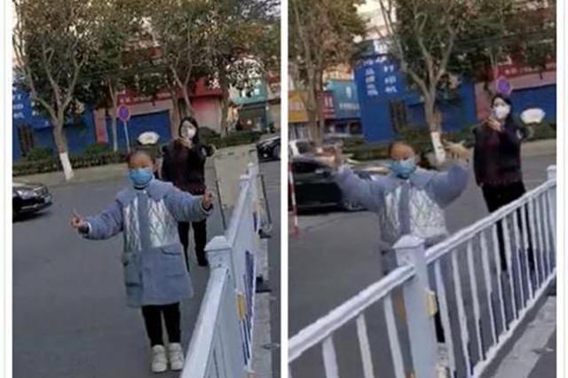 暖!医院门前漯河小女孩跳舞为抗疫医生加油