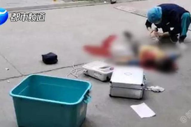 洛阳一小区 男童被撞倒在血泊中 令人心痛!