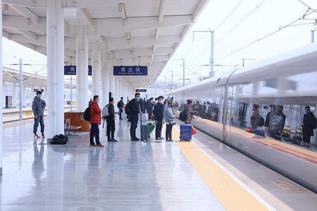 武汉始发首趟高铁停靠商丘:红外线测温仪快速检测出站乘客