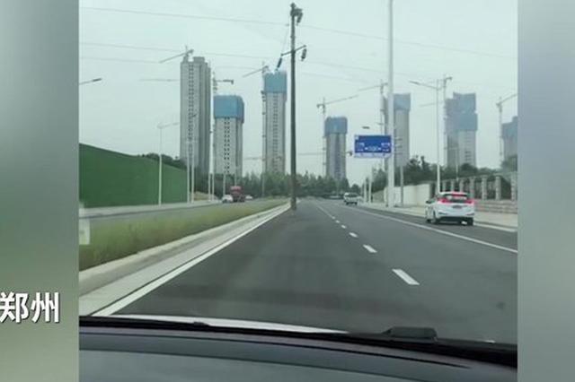"""郑州机动车道突现""""拦路虎""""  到底谁能把它弄走?"""