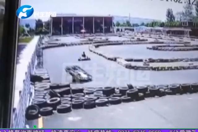 漯河女子开卡丁车导致胸椎骨折5根 视频拍下吓人一幕