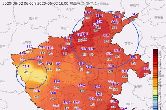 炎热升级!明后两天 河南部分地区最高气温38-40℃!