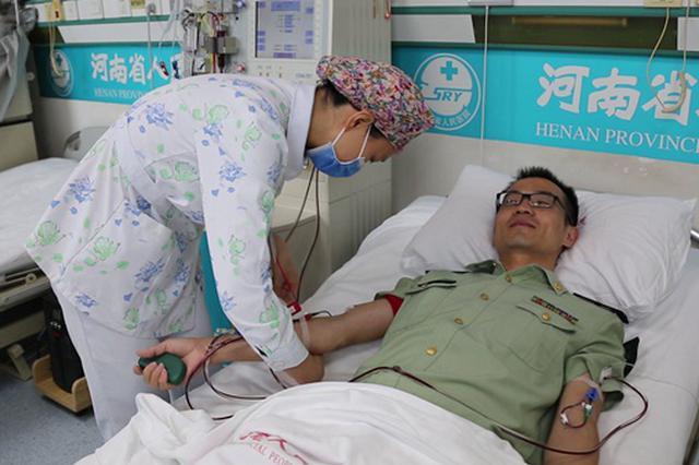 为救陌生儿童白血病患者 河南一武警官兵成功捐献造血干细胞