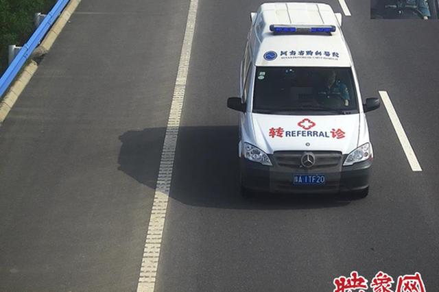 河南高速交警曝光19名救护车司机开车不系安全带