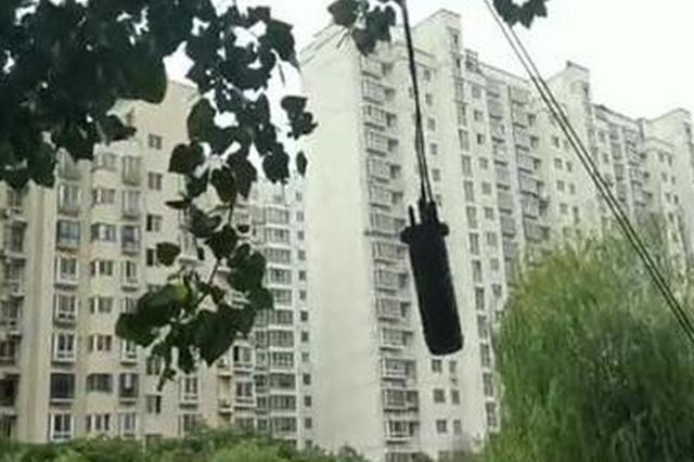 """郑州马路上空悬个圆柱体3个多月了 市民:像个定时""""炸弹"""""""