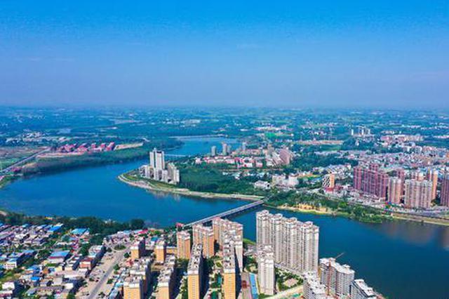 河南光山: 水在城中绕,人在景中行