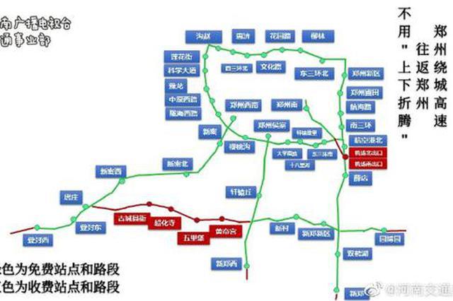 郑州绕城高速免费政策有变!对往返上下站说拜拜