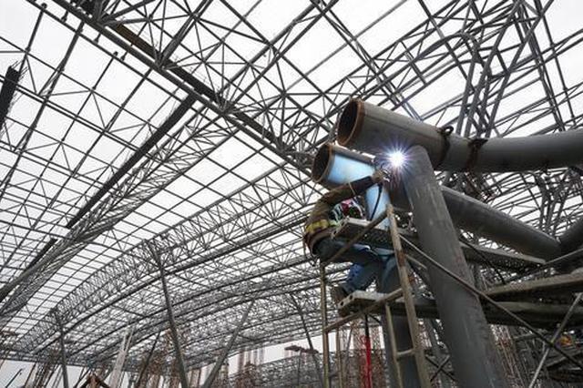 郑州南站主站房结构封顶 站房主体轮廓首次亮相