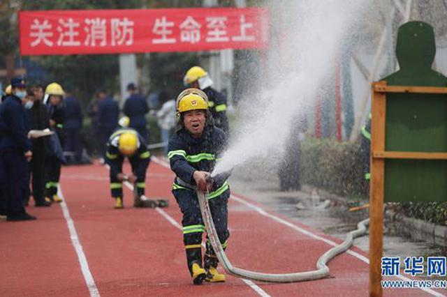 """焦作武陟:""""消防比武""""练技能(图)"""