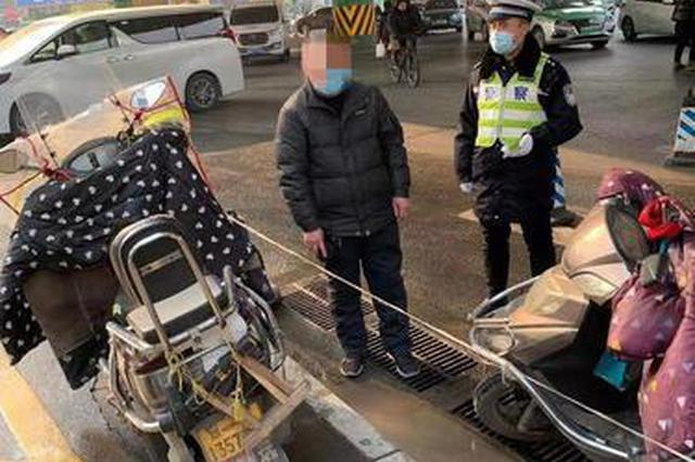 """郑州交警严查河医周边非法营运 6辆""""摩的""""被查扣"""