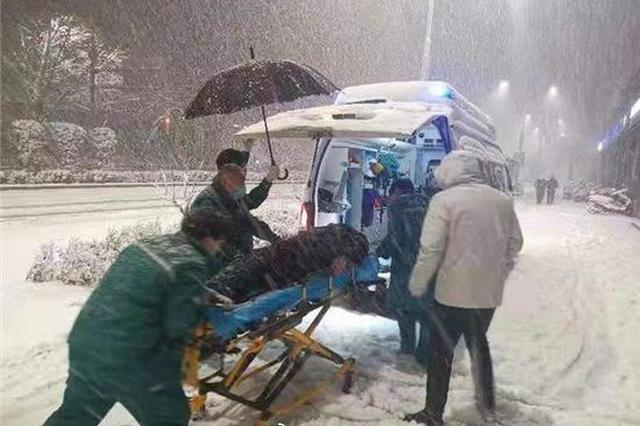突降暴雪!郑州120接诊166例 急救摔伤患者8人