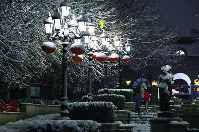 郑州:雪后的夜(图)