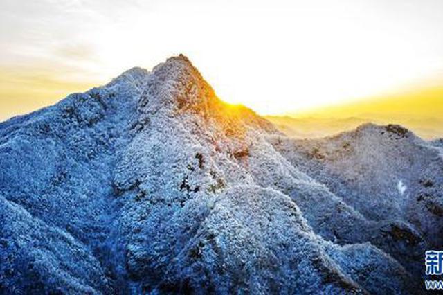 三门峡卢氏:春雪扮靓山川(图)