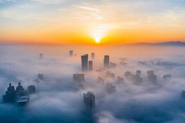 """洛阳大雾妙变""""天空之城"""" 美若仙境如在画中(图)"""