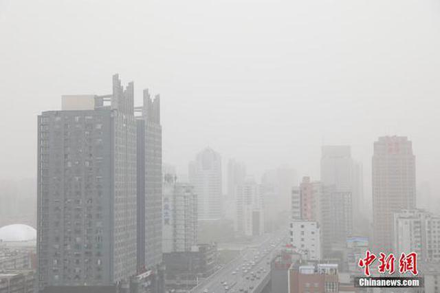 大风、沙尘来袭 河南部分区域出现重度污染(图)