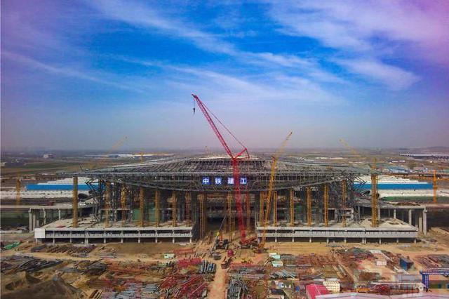 最新!郑州南站站房工程混凝土结构全面封顶