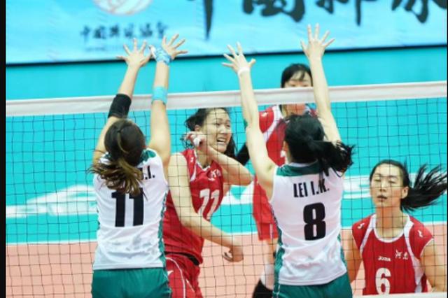 河南女排完胜中国澳门晋级全运会决赛圈
