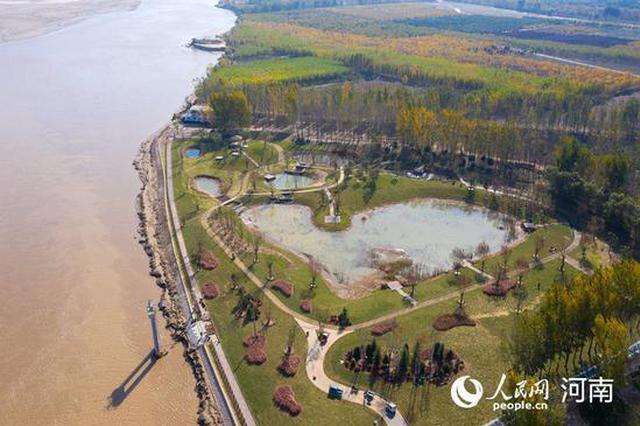 郑州:滨黄风光好 廊道美如画(图)