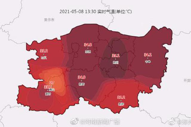 郑州成北方首个出现高温的省会城市