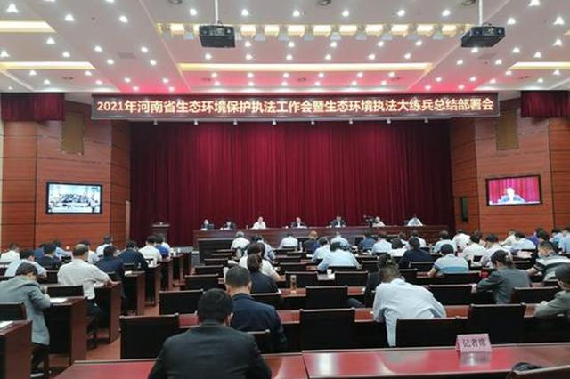 河南2021年环保执法工作会暨执法大练兵总结部署会召开