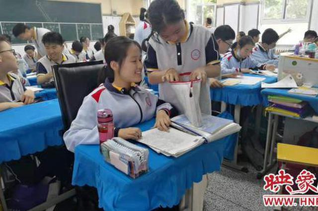 郑州一所中学专门为一名残疾学生装了一部电梯